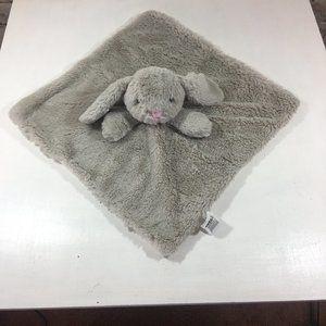 KellyToy Bunny Rabbit Gray Lovey Security Blanket